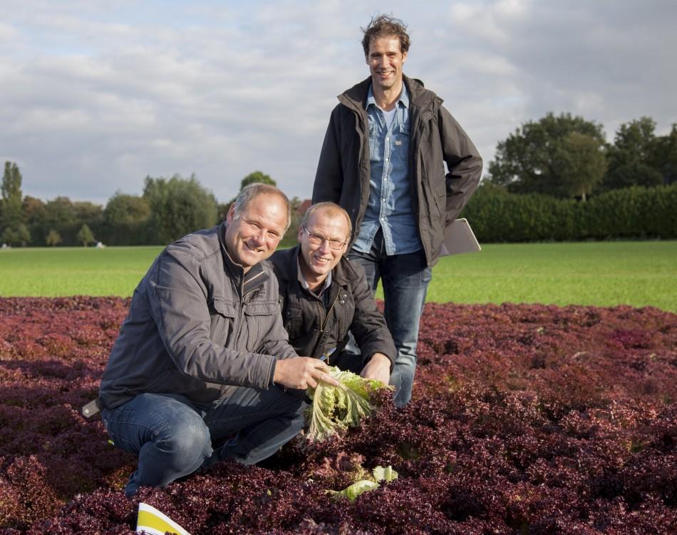 John and Wiel Lucassen with representative Erik Hovens