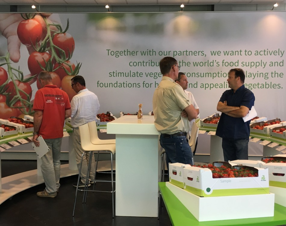 growers discussions in Tomato trial centre